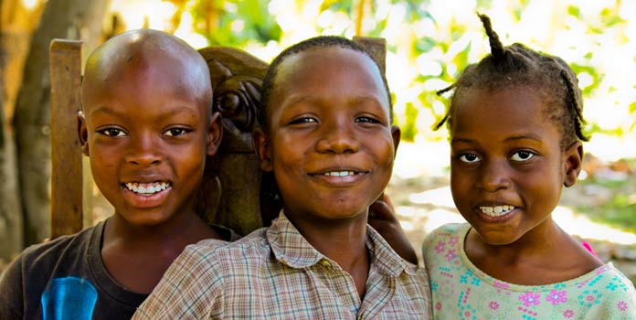 Children in Haiti where Operation HOPE helps.